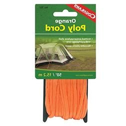 Coghlan's Braided Nylon Poly Cord, 50-Feet, Orange