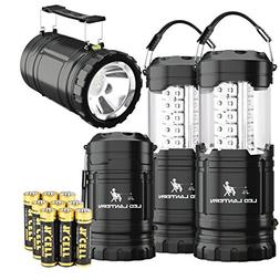 MalloMe 2-IN-1 LED Camping Lantern & Flashlight with 12 AA B