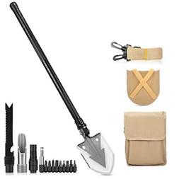 NACATIN All-in-1 Camping Shovel, 33.1 Inch Military Folding