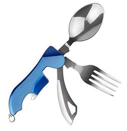 WETPIA 4-in-1 Camping Utensil Stainless Steel Fork Spoon Kni