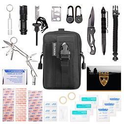 HERACLES 60 in 1 Emergency Survival Kit, First Aid Kit, Surv
