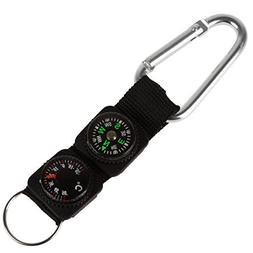 OriGlam 3 in 1 Multifuntional Carabiner with Compass/Thermom