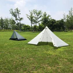 1 Person Pyramid Tent Backpacking Waterproof Lightweight Hik