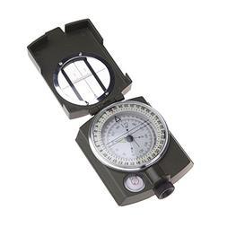 1 Set Portable Zinc Alloy Compass Keychain Military Light Su