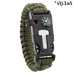 InLife 5 in 1 Outdoor Survival Gear Escape Paracord Bracelet