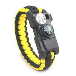 X-It Strategy 23 in 1 Survival Paracord Bracelet, Gear Kit w