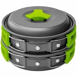 Gold Armour 10 Pieces Camping Cookware Mess Kit Backpacking
