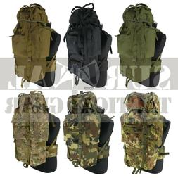 100L Tactical Camping Hiking Travel Camo Backpack Military H