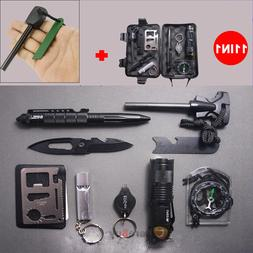 11 in 1 EDC Outdoor Camping Military Survival Gear Kits Box