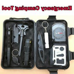 11 in 1 Emergency Camping Survival Equipment Kit Outdoor Tac