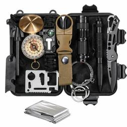 12 in 1 Camping Survival Gear kits First Aid Kit Outdoor Eme