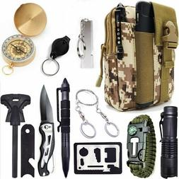 12-In-1 Tactical Backpack Emergency Survival Gear Kits For O