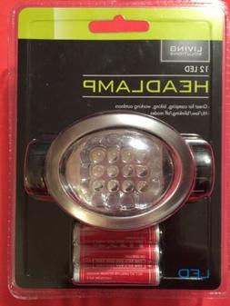 Living Solutions 12 LED Headlamp / Camping Gear / Outdoors N