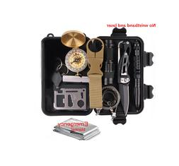 12PCS Outdoor Camping Survival Gear Kit Military Tactical ED