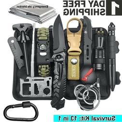 13 in 1 Outdoor Survival Kits Camping Hunting Tactical Adven