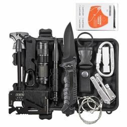 13 in 1 Outdoor Camping Survival Gear Kits Tactical SOS EDC