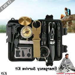 13 In 1 Outdoor Emergency Gear Survival Kit Camping Hiking T