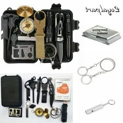 13 in 1 Outdoor Emergency Survival Gear SOS EDC Case Kit Cam