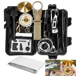 13 In 1 Outdoor Emergency Survival Kit Camping Hiking Tactic