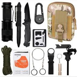 13 in 1 SOS EDC Outdoor Camping Survival Gear Kits First Aid