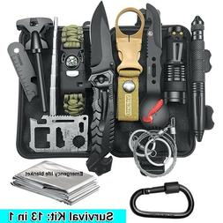 13in1 Outdoor Emergency Survival Kit Camping Hiking Tactical