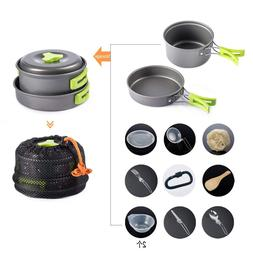 13Pcs/Set Portable Cookware <font><b>Camping</b></font> Mess