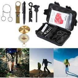 14 in 1 Outdoor Camping Survival Gear Kits SOS EDC Self Defe
