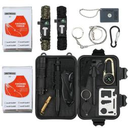 16 in 1 SOS Outdoor Camping Military Survival Gear Kits Box