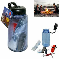 16 in 1 Survival Emergency Kit Camping Hiking Military Gear