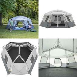 17x 15 11-Person Instant Hexagon Cabin Tent Camping Gear Out