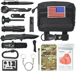 18 In 1 Emergency Survival Kit Outdoor Camping Hiking Tactic
