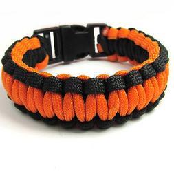 1pcs Paracord Parachute Rope Bracelet Wristband Survival Cam