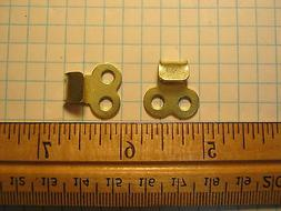 2 Boot lace hooks brass color rivets camp gear repair speed