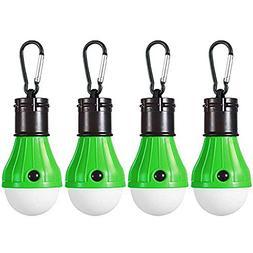 HANGSUNG 4 Pack LED Camping Lantern Portable Flashlight 3 Mo
