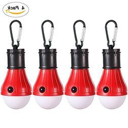 2/4 Pack LED Camping Lantern Portable Flashlight 3 Modes Lam