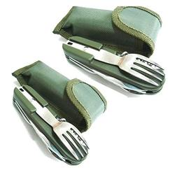 Freshline 2 Travel Cutlery Sets with Case Camping Gear Utens