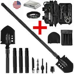 2 in 1 Military Folding Shovel Survival Gear Kits Outdoor Ta