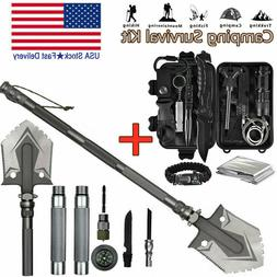 2 in 1 Military Folding Shovel and Survival Gear Kit Outdoor
