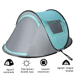 Vitchelo 2 Person Instant Automatic Pop Up Cabin Tent Water