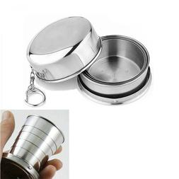 2018 1Pcs Stainless Steel Folding Cup Travel Tool Kit Surviv