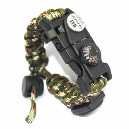 21 in 1 Paracord Bracelet Camping Tactical Survival Gear Com