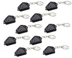 Finware 10 Pack Micro Light LED Keychain Mini Flashlight, Ul