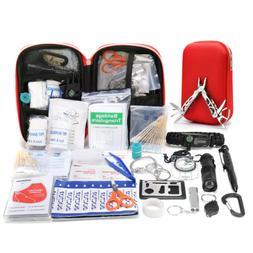 230PCs Outdoor Camping Emergency Survival Kit EDC SOS Tactic