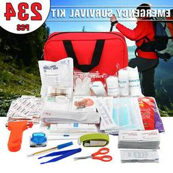 234Pcs First Aid Energency Gear Kit Camping Sport Travel Car