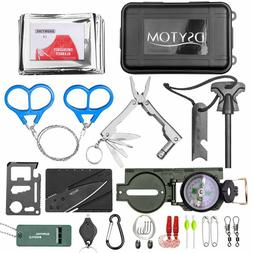 27 in 1 Emergency Camping Survival Equipment Kit Outdoor Tac