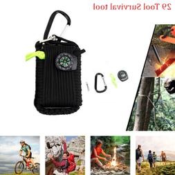 29 in 1 Outdoor Camping Survival Kit Fishing Tactical Bag ED
