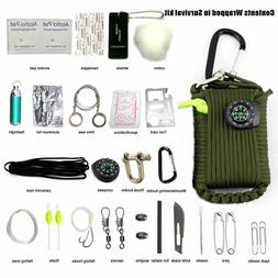 29 in 1 Outdoor Survival Kit First Aid Tools Camping Rescue