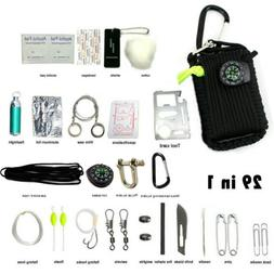 29 in 1 Emergency Camping Survival Kit Outdoor Tactical 550