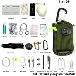 29 in 1 survival kit 550 paracord