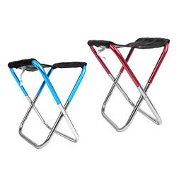 2pcs Folding Portable Stool Pocket Chair for Outdoor Fishing